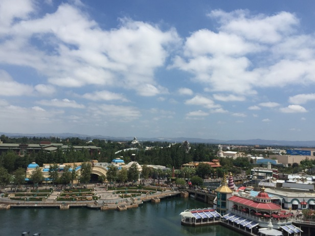 The view from the top of California Screamin' at Disney California Adventure is pretty spectacular if you can catch your breath long enough to get a look.